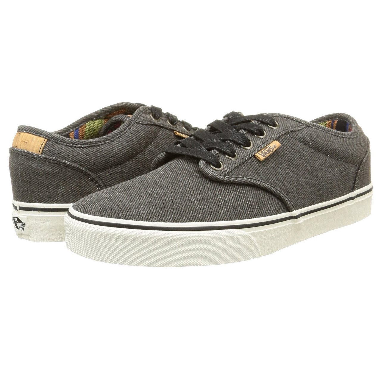 VANS Atwood Deluxe Washed Twill Trainers Black Marshmallow