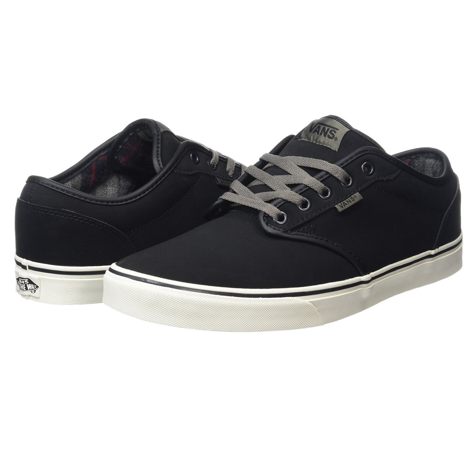 4bbdf8c5ffca46 Vans Men s Atwood All Weather Suede Leather Shoes Flannel Black ...