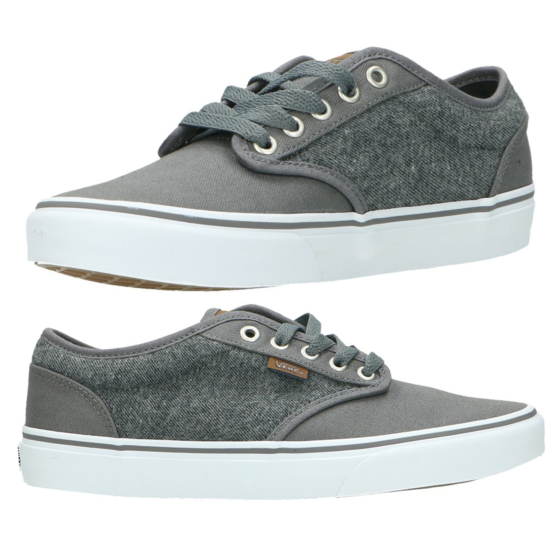 ae2caf2749 Vans Men s Atwood C L Canvas Shoes Trainers Pewter White