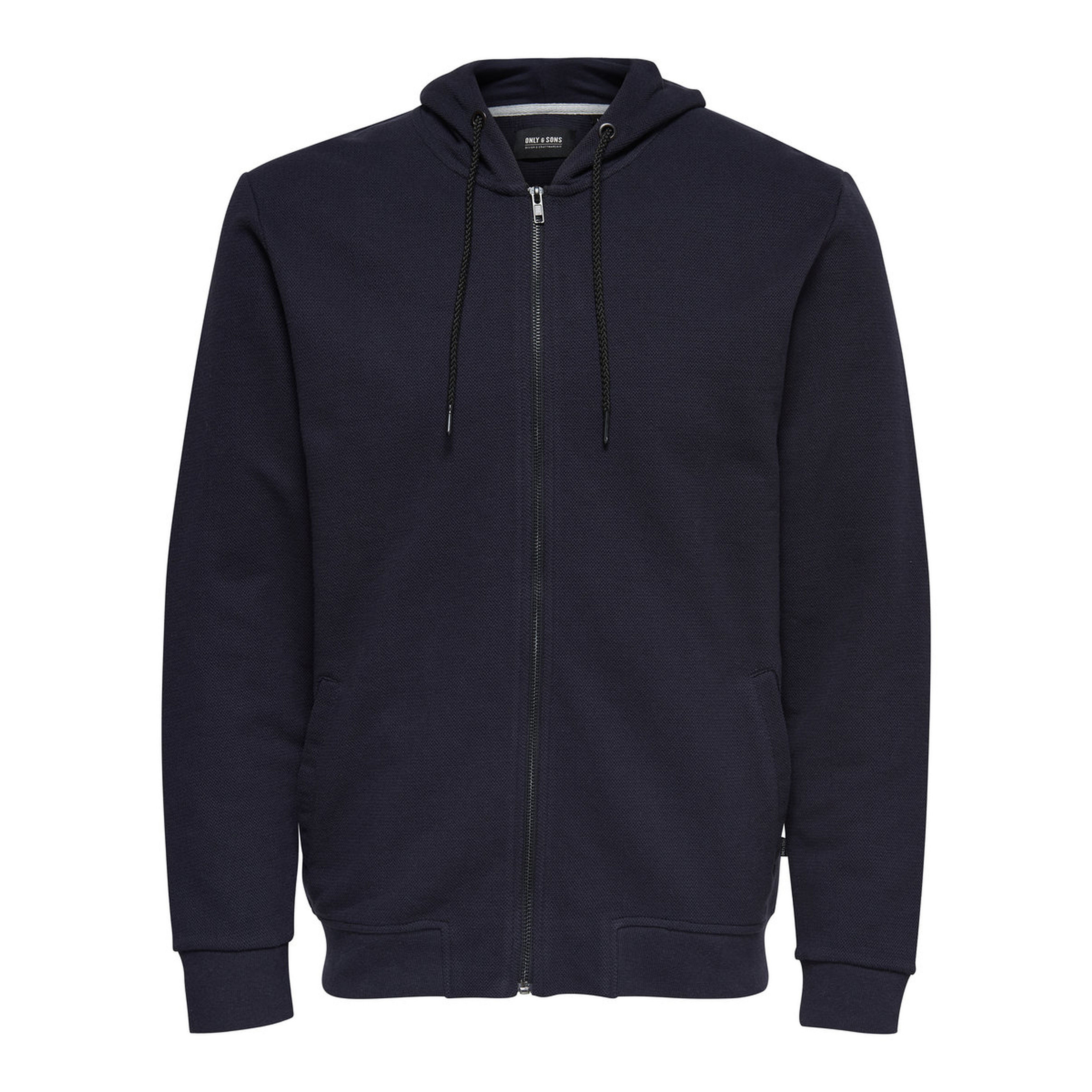 107e6891940 Only   Sons Finlo Men's Zip Up Hoodie Navy Blue