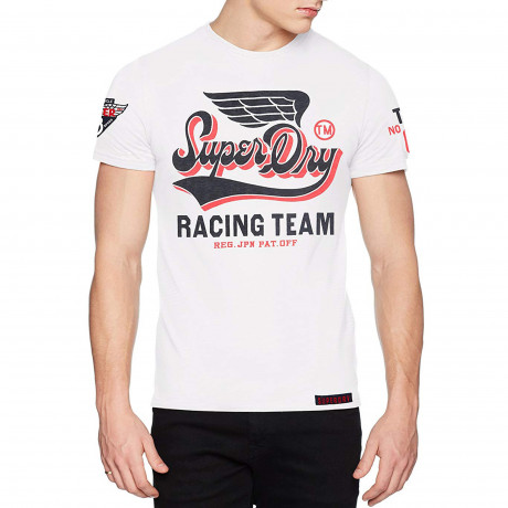 Superdry Famous Flyers Men's T-Shirt Optic | Jean Scene