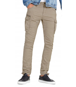 Jack & Jones Paul Chop Fit Cargo Combats Beige | Jean Scene