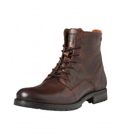 Jack & Jones Mens High Leather Orca High Biker Boots Brown Stone Shoes | Jean Scene