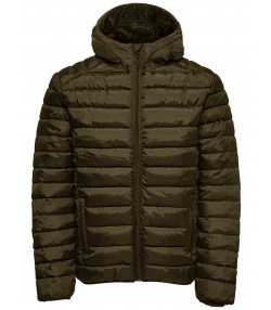 Only & Sons Puffer Liner Quilt Jacket Olive Night | Jean Scene