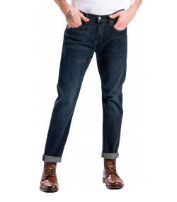 Levis 502 Denim Jeans Dark Blue Biology | Jean Scene