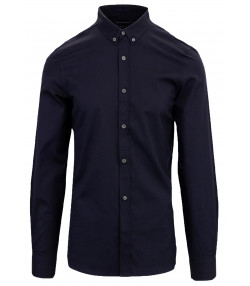 4bb04f75270 French Connection Oxford Long Sleeve Shirt Marine Blue | Jean Scene