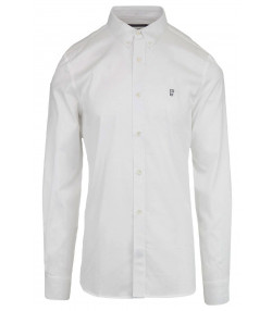 df247518fdb French Connection Oxford Long Sleeve Shirt White | Jean Scene