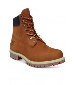 Timberland Mens Premium 6 Inch Leather High Boots Boots Rust Orange | Jean Scene