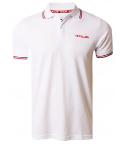 Nickelson Men's Old Street Polo Shirt Optic White