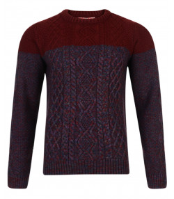 Tokyo Laundry Crew Neck Stuey Knitted Jumper Oxblood