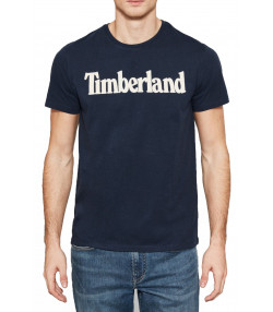 Timberland Brand Tree Regular Logo T-Shirt Long Sleeve Dark Sapphire | Jean Scene
