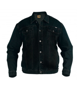 Duke Black Denim Trucker Jacket Image