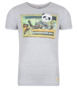 Blend Panda Girl Printed T-shirt Stone Mix Image