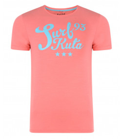 Blend Surf 93 Print T-shirt Sunkist Coral Red Image