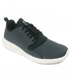 Crosshatch Mens Blistering Canvas Shoes Trainers Black | Jean Scene