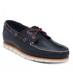Timberland Mens Tidelands 2 Eye Leather Boat Shoes Shoes Dark Indigo | Jean Scene