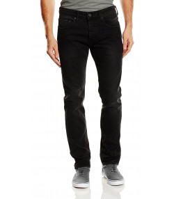 Duck and Cover Harlequin Slim Fit Stretch Denim Jeans Black | Jean Scene