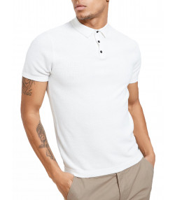 Threadbare Polo Neck Jumper Shirt Off White | Jean Scene