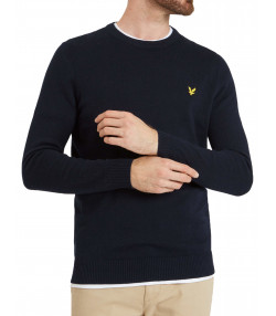 Lyle & Scott Crew Neck Men's Jumper Dark Navy | Jean Scene