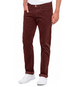Lee Daren Zip Regular Slim Burgundy Corduroy Jeans | Jean Scene