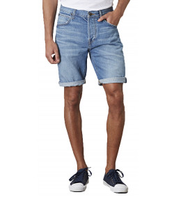 Lee 5 Pocket Denim Shorts Dark Blue Spritz | Jean Scene