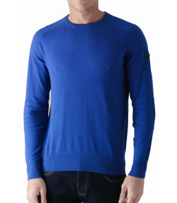 Duck and Cover Crew Neck Cotton Portofino Jumper Ultra Marine | Jean Scene