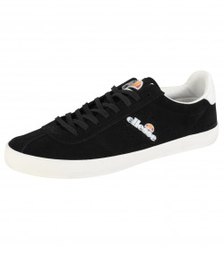 Ellesse Men's Avellino Vulc Suede Leather Low Shoes Trainers Black | Jean Scene