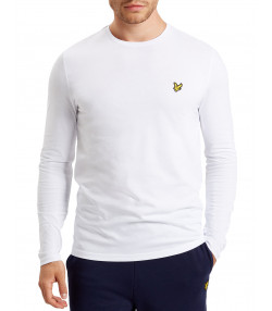 Lyle & Scott Crew Neck Long Sleeve T-Shirt White | Jean Scene