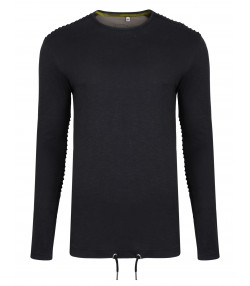 ba10c9cc49 Ringspun Twiss Plain T-Shirt Long Sleeve Black